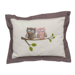 Be Be 's Collection Kuschelkissen Eulen rosa