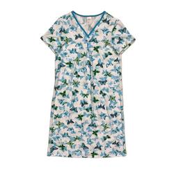 Graziella Nachthemd Nachthemd mit V-Ausschnitt und Schmetterlings-Druck Schmetterlinge, V-Ausschnitt, gemustert 40