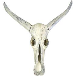 Guru-Shop Wandbild Große Maske Buffalo Skull Maske aus Balsaholz -..