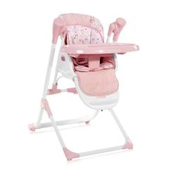 Lorelli Hochstuhl Kinderhochstuhl, Babywippe Ventura 2 in 1 ab Geburt, Musik, verstellbar rosa