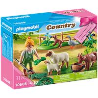 Playmobil Country Geschenkset Bäuerin mit Weidetieren 70608