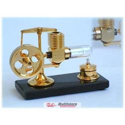 Krick Stirlingmotor groß Gold montiert / 22200