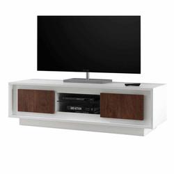 TV Board in Weiß Eiche Cognacfarben modern