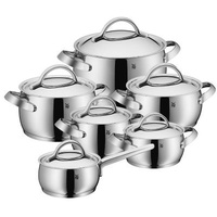Topf-Set 6-tlg. Fleischtopf (3x) + Bratentopf (2x) + Stielkasserolle