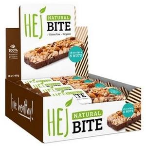 Hej Bite Organic Riegel, 12 x 40 g Kohlenhydratriegel, Organic Coconut