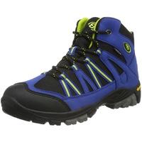 Brütting OHIO HIGH Unisex Kinder Trekking- & Wanderstiefel, Blau/ Schwarz/ Lemon, 28 EU