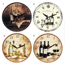 Wanduhr VINO - Zimmeruhr mit Wein-Motiv - 29 cm