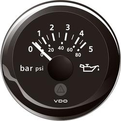 Öldruck 5 Bar 52 mm weiss schwarz