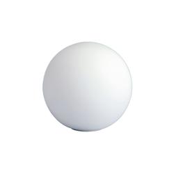 Wofi Tischleuchte Glaskugel in weiß, 30 cm