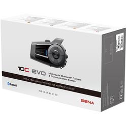 Sena 10C Evo Camera Bluetooth communicatiesysteem één Pack, zwart, Eén maat