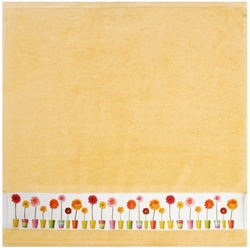 framsohn Geschirrtuch Zwirn ''Blumentöpfe'' 50 x 50 cm Limone