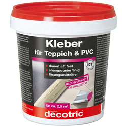 Bodenmeister Dispersionskleber 2x 750g Kleber, (2-tlg), für Teppichboden, PVC und Vinyl, reicht für ca. 6qm