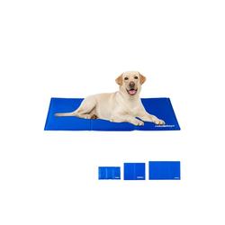 relaxdays Hundematte Kühlmatte Hund blau 100 cm x 60 cm x 1 cm