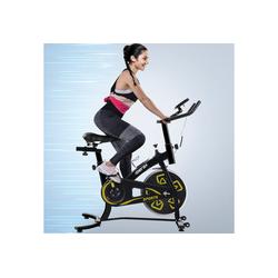 Merax Speedbike, Heimtrainer Fahrrad, Indoor Cycle, mit LCD-Konsole gelb