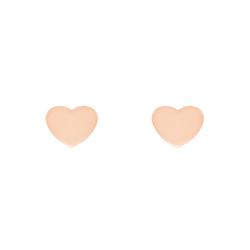 Minimalistische Goldohrringe in Herzform Kanya