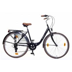 LeNoSa Cityrad AMIGO 28 Zoll Damen Fahrrad 6G Felgenbremse, Shimano schwarz
