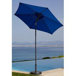 garten gut Sonnenschirm Push up Schirm Rom, abknickbar, ohne Schirmständer blau