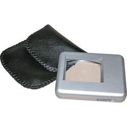 RONA 450510 Leselupe mit Beleuchtung Linsengröße: (L x B) 38mm x 30mm Silber
