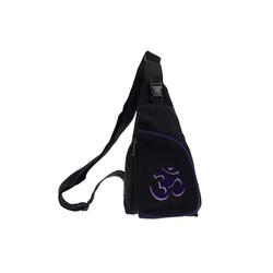 KUNST UND MAGIE Schultertasche Kunst und Magie Slingbag Hippie Goa Bodybag Schultertasche OM Rucksack Tagesrucksack lila