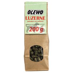 (0,60 EUR/100g) OLEWO Luzerne-Pellets 200 g für Hunde