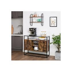 VASAGLE Sideboard LSC014B01, Beistellschrank, Küchenschrank, vintage