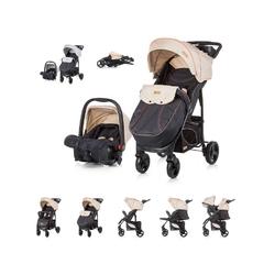 Chipolino Kombi-Kinderwagen Baby Kombikinderwagen Passo 2 in 1, mit Autositz, Fußsack natur