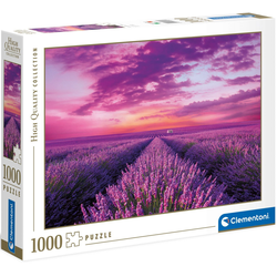 Clementoni® Puzzle High Quality Collection - Lavendel-Feld, 1000 Puzzleteile, Made in Europe, FSC® - schützt Wald - weltweit