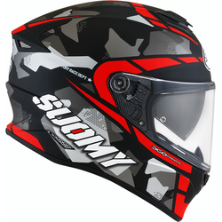 Suomy Stellar Race Squad Helm, schwarz-rot, Größe S