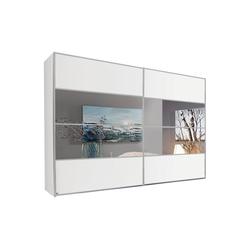 Rauch Steffen Schwebetürenschrank Juwel in weiß matt/Spiegel, B/H ca. 340 x 223 cm