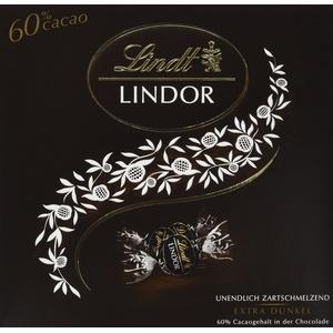 Lindt LINDOR Präsent Box Dunkel 60% Kakao, Schokoladengeschenk, ca. 15 LINDOR Kugeln, 187 g