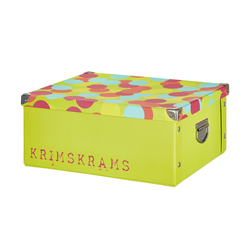 Basispreis* Pappbox  Krimskrams ¦ grün ¦ Pappe, Metall ¦ Maße (cm): B: 33 H: 17 T: 40