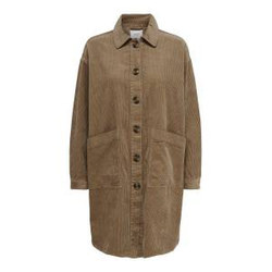 ONLY Langes Cord Hemd Damen Beige Female M