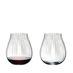 RIEDEL Glas Tumbler-Glas Tumbler Collection Optical O 2er Set, Kristallglas weiß
