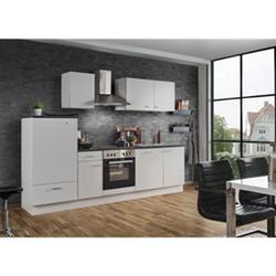 Menke Küchen Küchenzeile White Classic 270 cm, inkl. Geschirrspüler - weiß