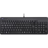 PERIXX PERIBOARD-220 H Kompakte Tastatur DE schwarz (11503)