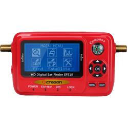 Octagon SF518 LCD HD 4K UHD Satfinder Messgerät USB Spektrum
