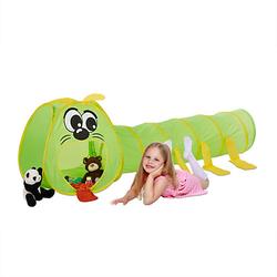 Kinder Krabbeltunnel Raupe grün