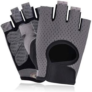 WESDOO Fitness Handschuhe Sporthandschuhe Herren Fitnesszubehör für Männer Trainingshandschuhe für das Fitnessstudio Turnhandschuhe Herren Gray,l