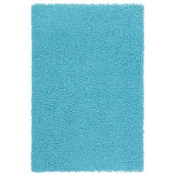 Günstiger Hochflorteppich - Funky (Aqua; 60 x 110 cm)