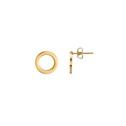 Heideman Paar Ohrhänger Cavus poliert, Paar Creolen mit Clip goldfarben