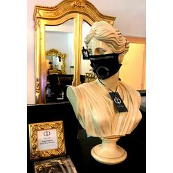 Casa Padrino Bling Bling Maske Schwarz / Silber - CP Maske mit Glitzersteinen
