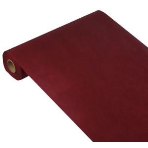 Papstar Soft Selection Tischläufer, bordeaux, stoffähnlich und strapazierfähig, 24 m x 40 cm, 1 Rolle, perforiert in 20 Abschnitte