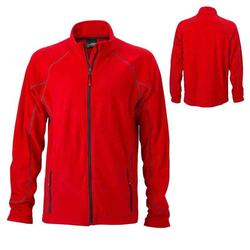 Leichte Outdoor Fleecejacke | James & Nicholson rot 3XL