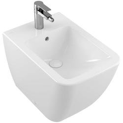 Villeroy und Boch Venticello Stand-Bidet 441200RW 56x37,5cm, stone white C-plus, mit Hahnloch, mit Überlauf