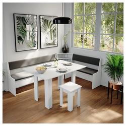 Vicco Sitzgruppe Eckbankgruppe Roman Weiß 210x150cm Esszimmergruppe Eckbank Sitzgruppe
