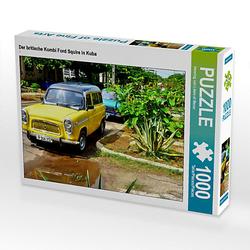 Der britische Kombi Ford Squire in Kuba Lege-Größe 64 x 48 cm Foto-Puzzle Bild von Henning von Loewis of Menar Puzzle