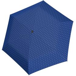 Tamaris Taschenregenschirm Tambrella Light, Minimals Blue, Ultraleicht