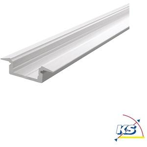 Deko-Light ET-01-10, flaches T-Profil für 10 - 11,3 mm LED Strips, 2000 mm, matt-weiß D-975025