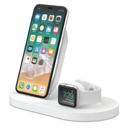 Belkin Lader 7,5W Wireless Charging Dock iPhone und Apple Watch weiß