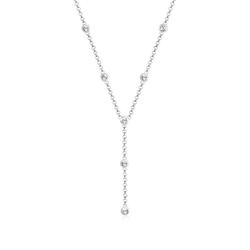 Elli Collierkettchen Y-Kette mit Kristalle in 925 Silber